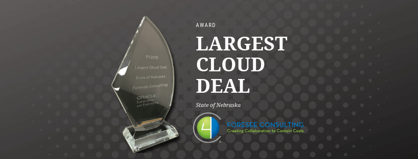 Oracle Largest Cloud Deal Award
